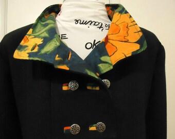 Swing Coat in Corduroy Wool or Tweed Optional Hood Fully Lined Jacket for Warm Winter Outerwear