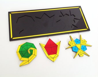 Zelda Spiritual Stones with Temple of Time Plaque