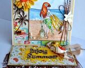 OOAK  Mo Manning Summer Beach  handmade card