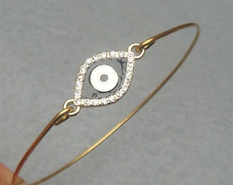 Evil Eye Bangle Bracelet Style 8