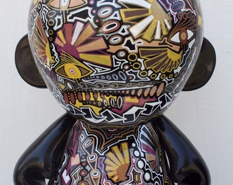 KIDROBOT kid robot mega munny sculpture painting vinyl toy contemporary fine art modern 18
