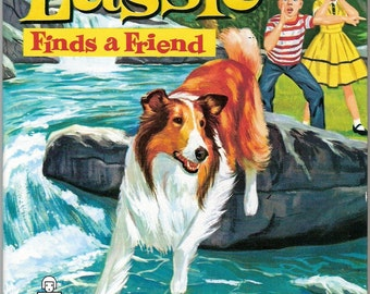 Lassie Finds A Friend Vintage Whitman Tell A Tale Book Illustrated by Al Andersen