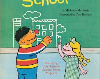 I Like School Vintage Sesame Street Golden Book Illustrated by Tom Herbert