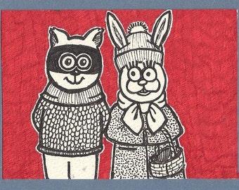 ACEO - Odd Couple