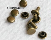Make from Copper 10mm x 10mm brass double cap rivets 30 sets(pairs) (For purse making) T45