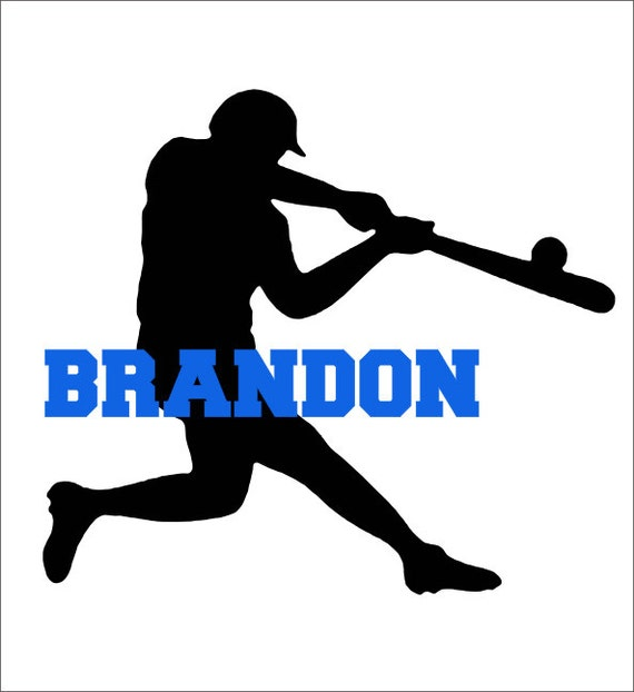 Baseball Player Vinyl Wall Decal Personalized Boys Sports Housewares ...
