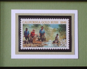California Gold Rush - Framed Stamp - No. 3316