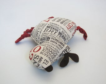 Large City Print Dog Squeak Toy