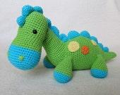 My Friend Dinosaur Dino - Amigurumi Crochet Pattern / PDF e-Book / Stuffed Animal Tutorial