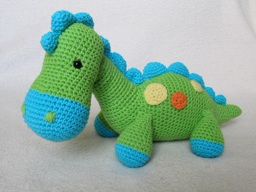Free Crochet Pattern For Dinosaur Beanie : My Friend Dinosaur Dino Amigurumi Crochet Pattern / PDF