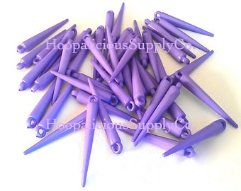 25pc LAVENDER Colored Spikes.Size 35mm. FAST Shipping with Tracking for Domestic Buyers.