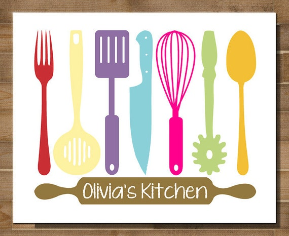 Items similar to 8x10 printable typography modern for Modern kitchen utensil