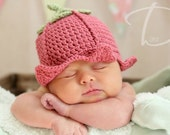 Crochet Flower Fairy Hat Photo Prop INSTANT DOWNLOAD PDF from Thomasina Cummings Designs