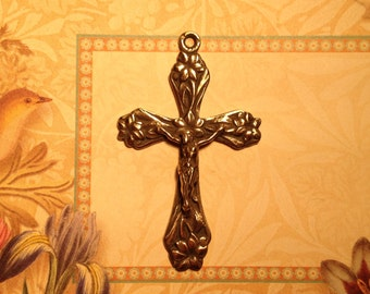 Sweet Lilies Bronze Rosary Crucifix