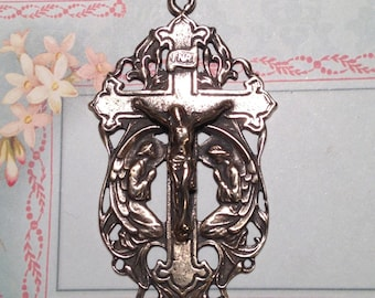 Adoration of The Holy Angels Crucifix Bronze Rosary Crucifix