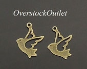 10 Flying Open Bird Charms 4343
