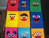 SESAME STREET BIRTHDAY party gift bags wtih handles (12 piece set)