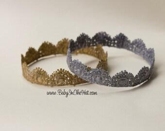 The Olivia Mini Newborn Lace Crown Photo Prop Pick Your Color
