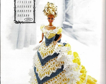 The Victorian Lady Centennial Collection Miss April 1993 Fashion Doll  Crochet Pattern  Annies Calendar Bed Doll Society 7604