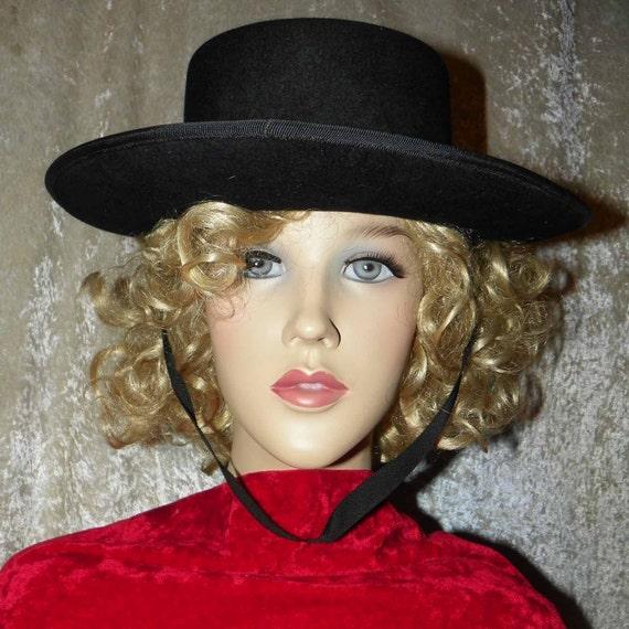Authentic Spanish Black Wool Gaucho Hat Sombrero Andaluz