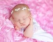 The Daisy - Halo Tieback Headband - Beautiful Newborn Photography Prop