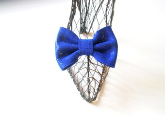 Shoe Clips -Blue Bow  clips-  Leather  shoes accessories