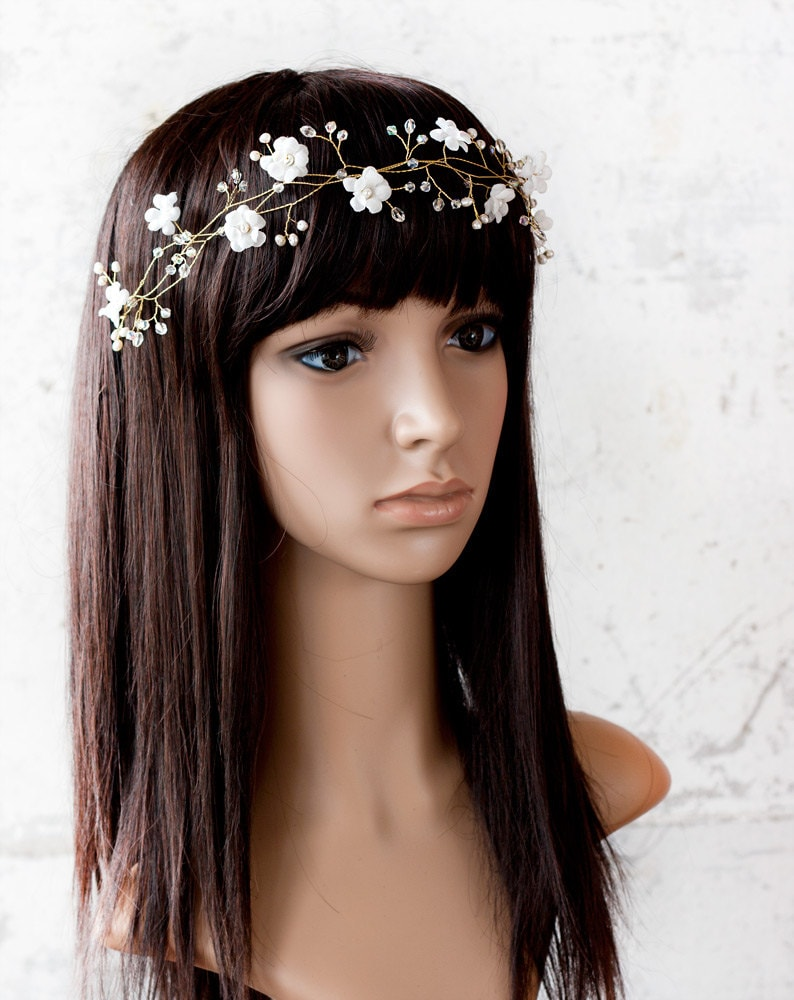 32 Flower Toe Nail Designs: 32_Flower Crown Flower Tiara Wedding Hair Accessories By