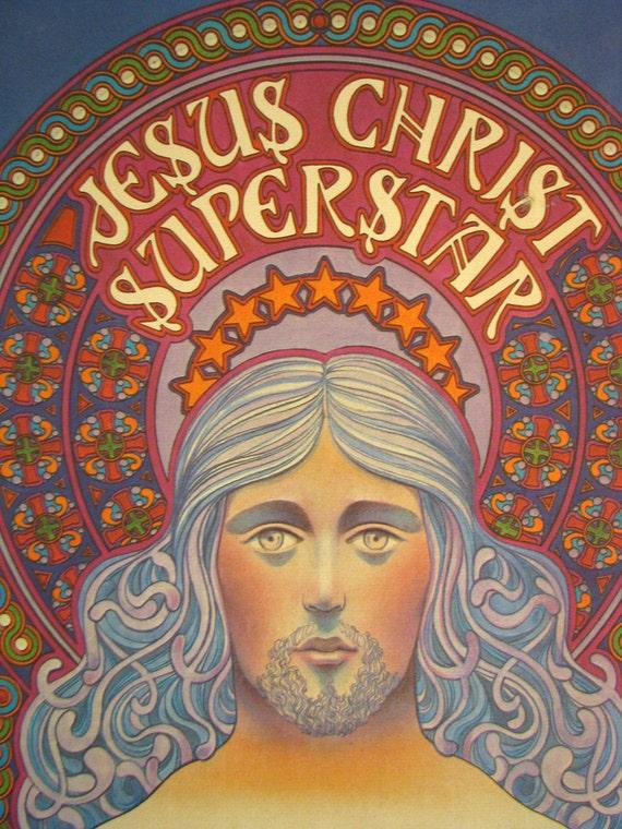 Rare 1971 Jesus Christ Superstar Rock Poster David Byrd Artist - Original Promotional Poster for Rock Opera Decca Records