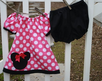 Minnie Mouse Dress, Minnie Mouse Baby Dress