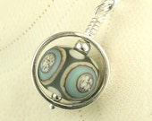 Lampwork Jewelry Sterling Silver Circle Necklace