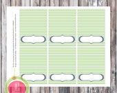PLACE CARDS - Teddy Bear Aviator Blank Tented Card - Instant Download - Party printables by WC Designs