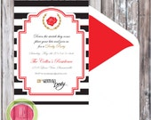 KENTUCKY DERBY Invitation - Kentucky Derby Printable Invitation - Black and Red Invitation by WC Designs