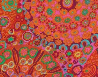 Kaffe Fassett - GP92, Millefiore Tomato - 1/2 yard cotton quilt fabric 516