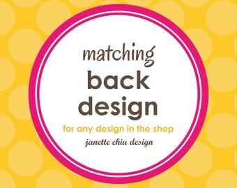 Matching Back Design
