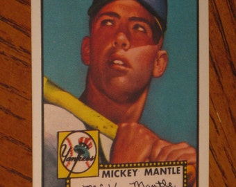 1952 Topps mickey mantle rookie incredible looking card