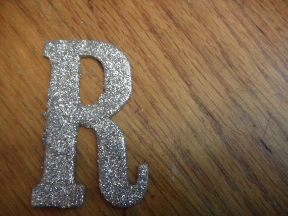 Glitter R Sparkly Letter