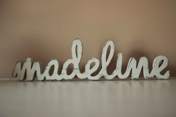 Baby name custom wood sign nursery home decor for Home decor names