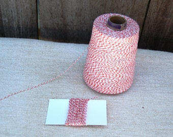 Cherry Red Twine - 4 ply - 10 yards