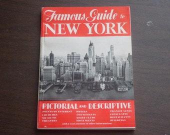 Vintage 1952 New York City Guide Booklet