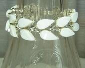 White Thermoset Teardrop Bracelet