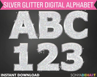 60% OFF SALE Glitter Alphabet, Scrapbook Alphabet, Alphabets Clipart, Digital Alphabets, Letters Clipart, Clipart, Digital Alphabet