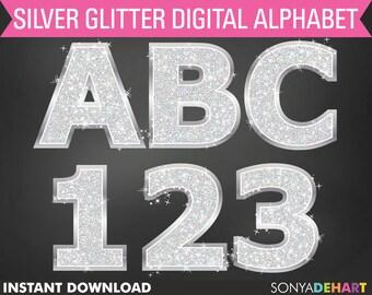 Glitter Alphabet, Scrapbook Alphabet, Alphabets Clipart, Digital Alphabets, Letters Clipart, Clipart, Digital Alphabet
