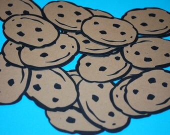 "Cookie Monster's Chocolate Chip Cookies (25) 2"" Die cuts"