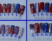 4th of July Artificial Nail Art