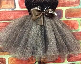 Cheetah  tutu dress, cheetah birthday tutu, cheetah pageant dress,