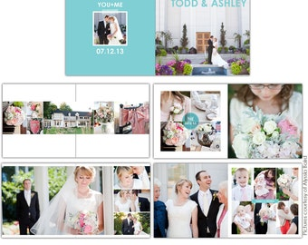 INSTANT DOWNLOAD - 12x12 Wedding album template - Clean Style - E725