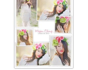 INSTANT DOWNLOAD - Collage Layout - 16x20 Print & Blog board - E823