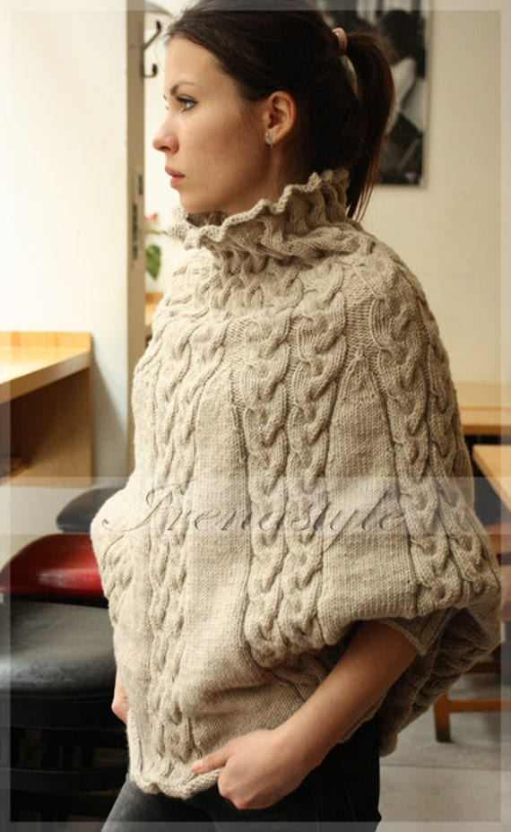 Knitting Pattern For Poncho With Sleeves : Unavailable Listing on Etsy