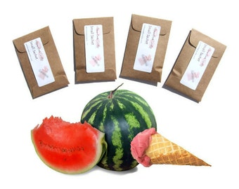 Watermelon Decor Scented Sachets Sherbet Summer Barn Wedding Favors Baptism Unique Party Seed Packets Kraft Other Colors Personalized Rustic