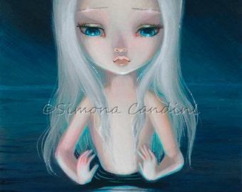Child Of The Moon SIGNED Mini PRINT Simona Candini Big Eyes Lowbrow Art Pop Surreal Hijo De La Luna